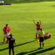 Jugadores del Alcalá celebrando el gol